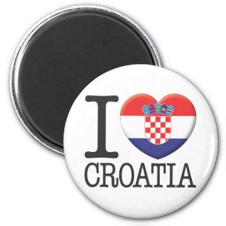 Kroatien Runder Magnet 5,7 Cm