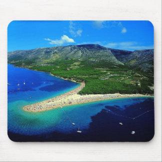 Kroatien - Strand zlatni Ratte Mauspads