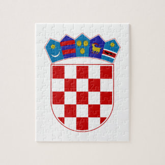 Kroatien-Wappen Puzzle