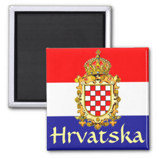 Kroatien-Wappen Quadratischer Magnet