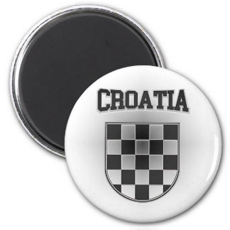 Kroatien-Wappen Runder Magnet 5,1 Cm