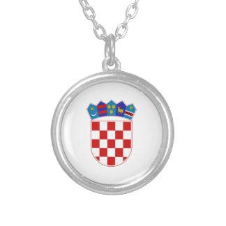 Kroatien-Wappen Versilberte Kette