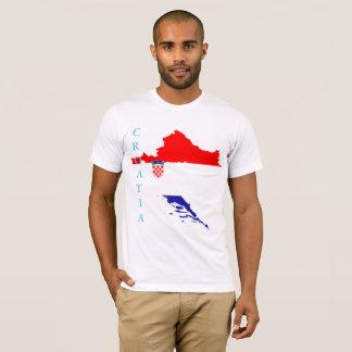 Kroatienflagge und -karte T-Shirt