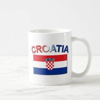 Kroatische Flagge 2 Kaffeetasse