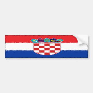 Kroatische Flagge Autoaufkleber