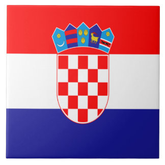 Kroatische Flagge Fliese