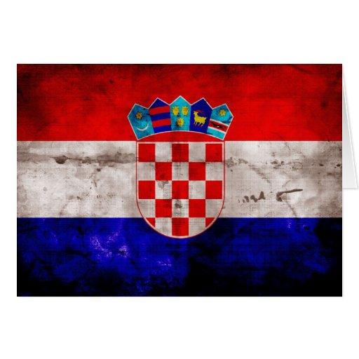 Kroatische Flagge Karte
