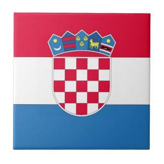 Kroatische Flagge oder Flagge von Kroatien Fliese