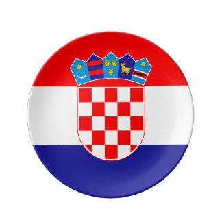 Kroatische Flagge Platte