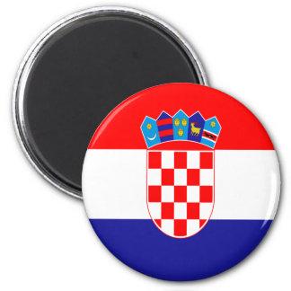 Kroatische Flagge Runder Magnet 5,7 Cm