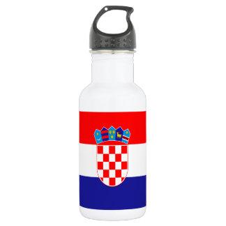 Kroatische Flagge Trinkflasche