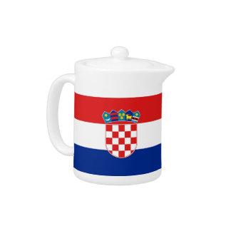 Kroatische Flaggen-Teekanne