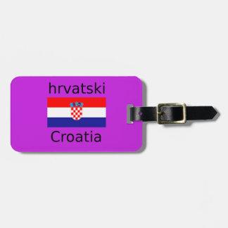Kroatischer Flaggen-und Sprachentwurf Kofferanhänger