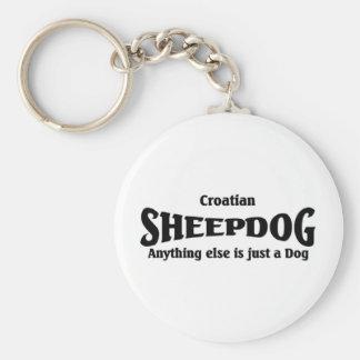 Kroatischer Schäferhund Standard Runder Schlüsselanhänger