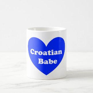 Kroatisches Mädchen Kaffeetasse