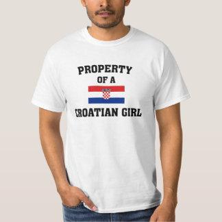 Kroatisches Mädchen T-Shirt