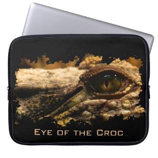 Krokodil-Auge, Reptil, wild lebende Tiere, Tier Laptop Sleeve