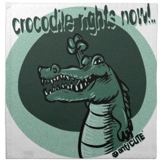Krokodil berichtigt jetzt Blau Serviette
