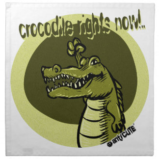 Krokodil berichtigt jetzt Grün Stoffserviette