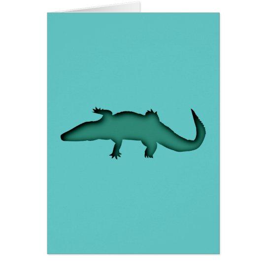 Krokodil crocodile karte