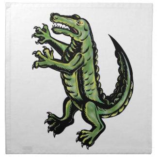 Krokodil-stehende hohe Tätowierung Serviette