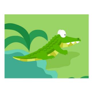 Krokodil von meinem Welttiere serie Postkarte