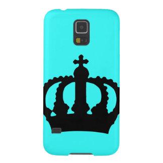 Krone auf Blau Samsung S5 Hülle