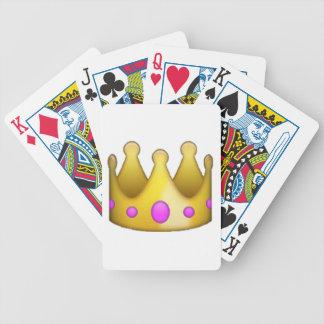 Krone - Emoji Bicycle Spielkarten