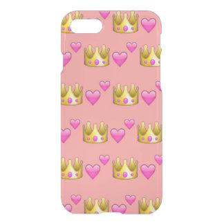 Krone Emoji iPhone 7 Clearly™ Fall iPhone 8/7 Hülle