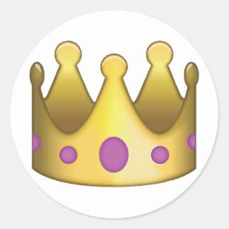 Krone emoji runder aufkleber