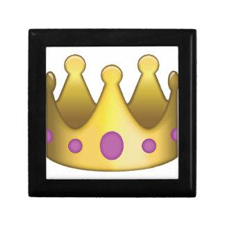 Krone emoji schmuckschachtel