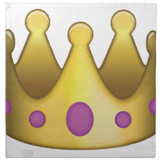 Krone emoji serviette