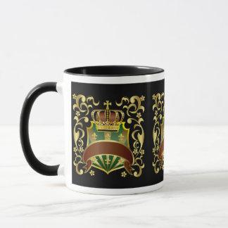 Krone und Schild Tasse