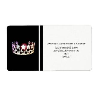 Kronen-Adressen-Etiketten Fräulein-USA silberne