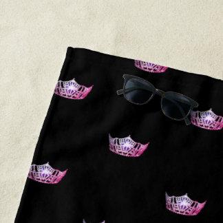 Kronen-Badetuch Miss Amerikas rosa Strandtuch