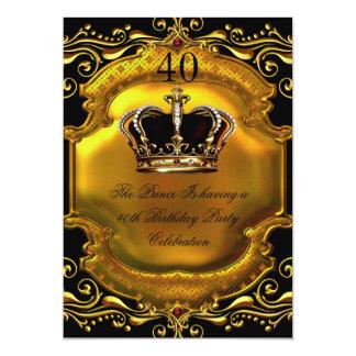 Kronen-Geburtstag 2 Prinz-König Gold Royal Black 12,7 X 17,8 Cm Einladungskarte