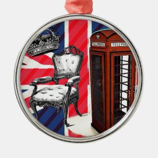 Kronen-Gewerkschafts-Jack des Silbernes Ornament