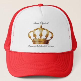 Kronen-Hut der Königin-Elizabeth Truckerkappe