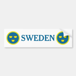 Kronen-Schwede-Emblem Schwedens drei Autoaufkleber