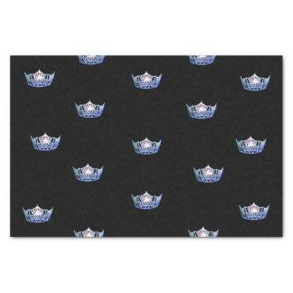 Kronen-Seidenpapier Miss Amerikas blaues Seidenpapier