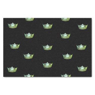 Kronen-Seidenpapier Miss Amerikas grünes Seidenpapier