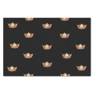 Kronen-Seidenpapier Miss Amerikas orange Seidenpapier