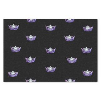 Kronen-Seidenpapier Miss Amerikas violettes Seidenpapier