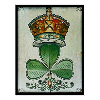Kronen- u. Kleeblattpostkarte Postkarte