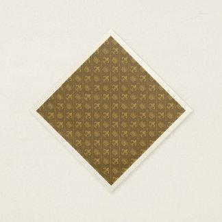 Kronen- u. Lilienmuster Papierserviette