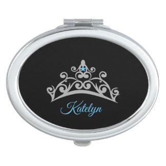 Kronen-Vertrag Spiegel-Name Miss Amerikas USA Taschenspiegel