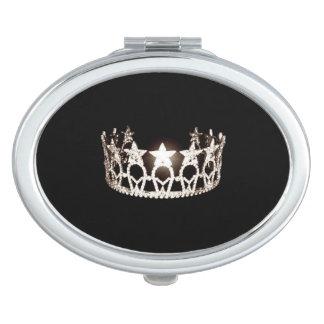Kronen-Vertrags-Spiegel Fräulein-USA silberner Taschenspiegel