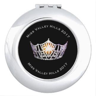 Kronen-Vertrags-Spiegel Miss Amerikas silberner Schminkspiegel