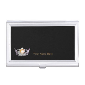 Kronen-Visitenkarte-Kasten Miss Amerikas silberner Visitenkarten Etui