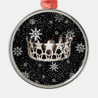 Kronen-Weihnachtsverzierung Fräulein-USA silberne Silbernes Ornament